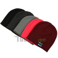 Wholesale Warm Beanie Hat Wireless Bluetooth Smart Cap Headphone Headset Speaker Mic Stereo Headset Leisure Knitted Cap