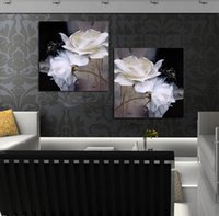 contemporary oil paintings - No frame Hot Black and White plates contemporary Canvas oil painting abstract decorative wall art pictures