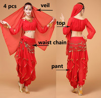 indian clothes - Belly Dancing clothes Bollywood Costume Indian style for Women Long sleeved shirt pants manufacturer MB002