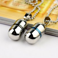 ashes urn - Love forever Cremation Jewelry High quality openable Stainless Steel Pill capsule Pendant Memorial Ash Urns Lockets Necklace Urns Jewelry