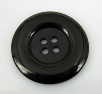 Wholesale 200pcs large big smooth touch glitter Black Four Hole Round Resin Sewing Buttons mm