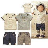 Wholesale 2015 boys clothes boys clothing sets kids clothes summer fashion soft cotton children boys clothings Sets baby suit kids clothes