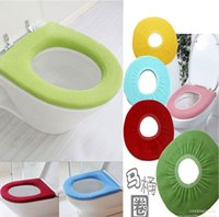 Cheap Candy color Bathroom Warmer Toilet Washable Cloth Seat Cover Pads High Qualit salable