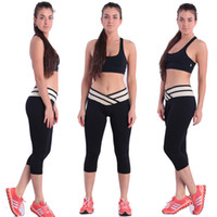 Wholesale 2015 sexy Tights Leggings sport Leisure Skinny pants yoga Legging women Pants Sportswear Gym Clothing Cotton Running S402L