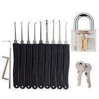 Wholesale Lock Pick Set for Locksmith Training Best Cutaway Practice Lock with Transparent Lock Professional Lock Picking Set Practice Tools