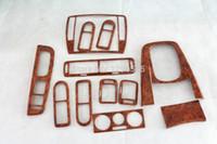 Wholesale 12 Set Light Walnut Dash Door Air Vent Hand Interior Trims for VW Passat B5