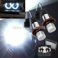 Wholesale 1 Year Warranty High Power k W CREE LED Angle Eyes Halo Xenon Marker Ring Light Bulb Canbus For BMW E39 E53 E60 E61 E65 X5