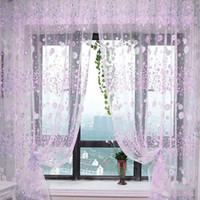 Wholesale Floral Printed Tulle Voile Door Window Curtain Sheer Drape Panel x100CM NVIE order lt no track