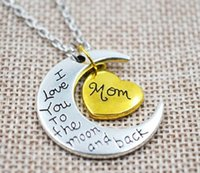 american family care - B0781 European and American fashion new family members caring moon pendant necklace variety