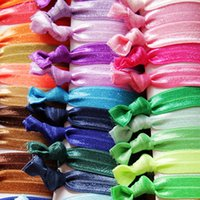 Wholesale 100pcs South Korean Elastic Headbands For Women Knot Multicolor Hair Rope Ribbons Headrope Headdress