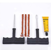 Wholesale Cheap per Set Safety Car Bike Bicycle Auto Tubeless Tire Tyre Puncture Plug Repair Kit Tool EMS