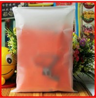 Wholesale 100x Plastic Frosted Bag Resealable Zipper Bags for T Shirt Clothing Packaging x mil can Custom your logo