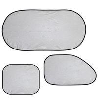 Wholesale 3D Photocatalyst Mesh Net Heat Insulation PVC Car Sunshade Set NVIE order lt no track