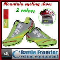 Wholesale Pro SIDEBIKE Men s MTB Racing Shoes Breathable Cycling Bicycle Athletic Bike Shoes highway lock Mountain Cycle Sneaker Green Red US7