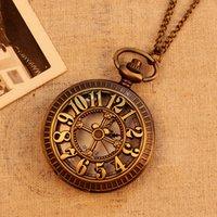 antique vintage display case - 78cm Chain Hollow out Cross Case Fashion Vine Antique Pocket Watch Quartz Analog Display Pendant Watch Clock Hot SALE Gift
