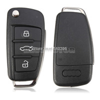 Wholesale 3 BUTTON FOLDING FLIP REMOTE KEY SHELL CASE FOB FOR AUDI A2 A3 A4 A6 A6L A8 TT small order no tracking