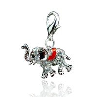 elephant charms - Floating Charms fashion Origami owl Girl Lockets Charm Jewelry Rhinestone Elephant pendants Free Delivery