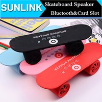 mini skateboard - BT03 Mini Skateboard speaker Scooter Wireless Bluetooth Stereo Sound Box Mp3 Music Player Handsfree calls Speaker