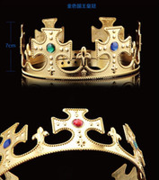 Wholesale Halloween cosplay king and queen crown