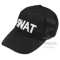 Wholesale Baseball Hats SWAT Pattern Cotton Fabric Baseball Hat Cap Hot NO Embroidered for Outdoor Sports