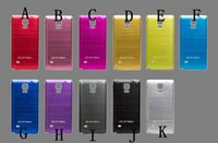 Wholesale Note4 Brushed Aluminum metal Battery Door Replacement Housing Hard Back Case For Samsung Galaxy Note N9100 Brush Back Cover DHL Free