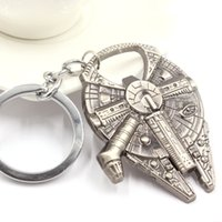 Wholesale NEW Fashion Practical Star Wars Millennium Falcon Metal Zinc Alloy Bottle Opener key ring movie jewelry gift for firend