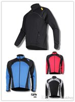 Wholesale SPAKCT Cycling Winter Jacket Fleece Thermal Long Jersey Winter Jacket New Power Colors Blue Red Black Black White
