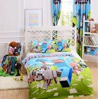 brand bedding sets - Brand New Piece D Bedding Set Minecraft Creeper Kids Bed Set Twin Full Queen Size Duvet Cover Pillow Sham Bed Sheet