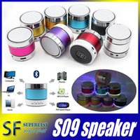 aluminum door seal - S09 Bluetooth Speaker Out door with LED of light Micro SD TF Card Call Function No Logo with Retail Box