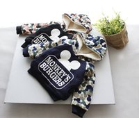 baby patch clothing - 2015 Winter Hot Sale Baby Children Velvet Sweatshirt Boys Camouflage Thicked Hoodies Patched Clothing For Kids Fit Age SS325
