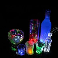 bars gift items - New Arrival LED Flash Drinking Items Cocktail Bar Used LED Cup Coaster mini LED Cup Mat Christmas Gift