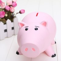 bank models - 8inch cm Hamm Piggy Bank Pink Pig Coin Box PVC Model Toys packed in Box