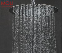 Wholesale Shower head inch round stainless steel rain shower head ultra thin rainfall shower head