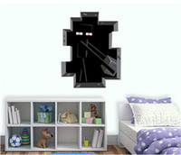 Wholesale Hot Sale D Minecraft Wall Sticker cm Enderman Steve Wallpaper Kids Room Wall Decal Living Room Home Decor