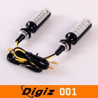 Wholesale New Universal Yellow LED Motorcycle Front Turn Signal Light Lamb with Retail Package pairs CARS0346