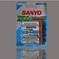 Wholesale 8PCS SANYO mAh AA Third Generation Rechargeable upto Pre charged Rechargeable Battery