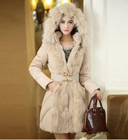 long down coat - 2015 Parkas Mujer Luxury Style Women Winter Long Down Parkas Thick Ladies Elegant Fur Collar Outerwear Coat S xl