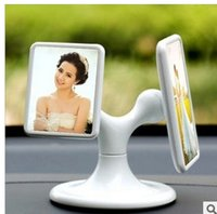 cheap practical car ornaments wholesale vehicle frame with composite frames can rotate couple family photos frame
