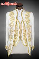 Wholesale New Male Men s Long suit mounted suit Pants the groom tuxedo set and Groom Wedding Dress Suit Men s Tail Suit White