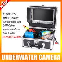 underwater fishing camera - 7 Inch LCD Underwater Video Camera System Fish Finder With Led Light Fishing Breeding Monitoring TVL Camera M Cable