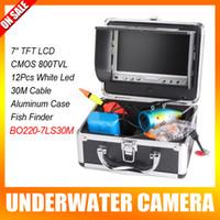 Precio de Camera underwater-7 pulgadas LCD Video Submarino sistema de cámara Buscador de los pescados Con 12Pcs llevó la luz de Seguimiento de Pesca Cría cable 800TVL Cámara 30M