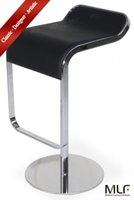 bar stool steel swivel - MLF LEM Style Piston Bar Stool Adjustable quot quot Smooth Hydraulic Piston Swivel Spin Smooth Italian Leather Chrome Steel