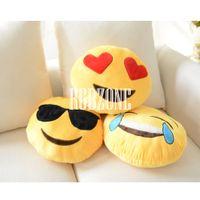Wholesale 3PCS Emoji Smiley Emoticon Cushion Pillow Stuffed Plush Soft Toys Doll Bed Sofa Home B C F ooPK0139