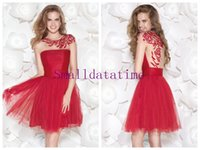 Cheap Reference Images Cocktail Dress Best Scoop Tulle Beaded Cocktail Dress