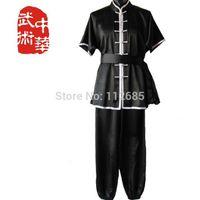 Wholesale Maria s store Shaolin Tai chi uniform Kung Fu roupas clothes performance training short sleeve high quality