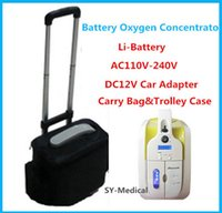 battery shopping - FDA CE Approved Mini Portable Oxygen Concentrator With Battery Car Adapter V V DC12V Medical Home Travel Shopping Use