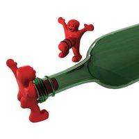 Wholesale 10PCS Funny Happy Man Wine Bottle Corkscrew Wine Bottle Stopper Beer Bottle Opener Type Mix Order Great Lover Gift