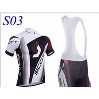 Wholesale factory SCOTT Short Sleeve Cycling Jersey and Cycling Bib Shorts Kit SCOTT Cycling Clothing Set SIZE XS XXXXL S03