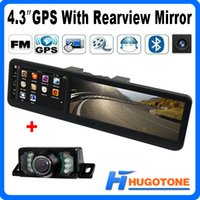 photo book - 4 inch Car GPS Mirror Rear View Camera FM Bluetooth GPS Navigation AV in bulit in GB RAM Map With Wireless Rearview Camera