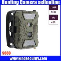 Wholesale S680 Hunting Camera m Infared Wild Life P P Vedio Camera Inch TFT Screen LED Hunter Trail Camera